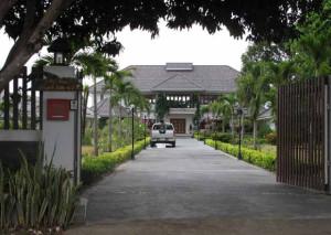 Wanted British drug dealer Darren Oxley's mansion in Hua Hin, Thailand.