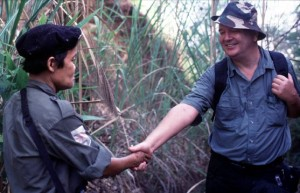 Mail on Sunday correspondent Andrew Drummond comes face to face with the father of Luther and Johnny Htoo in the Dawna Mountains of Burma.