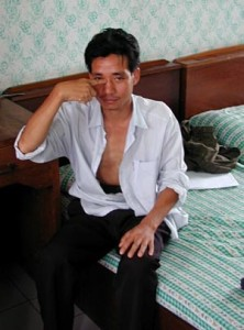 Tour guide Narong Pojanathanrongpong, known as Abraham - a Karen tour guide who claims he was tortured by police investigating the murder of British backpacker Kirsty Jones