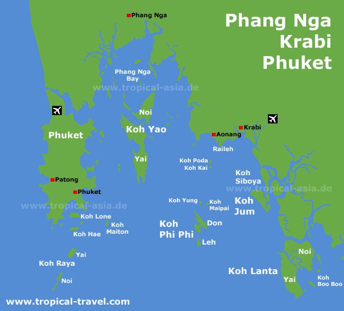 Koh Phi Phi Leh: Phi-Phi-island-map