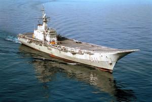 The Royal Thai Naval vessel HTMS CHAKRINARUEBET (CVH 911) in the South China Sea.