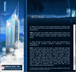 Ocean Tower 1 news